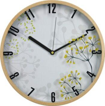 horloge murale en bois - motif arbres-0