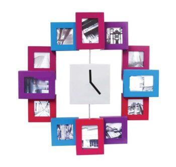 horloge photos petits cadres de couleurs-0