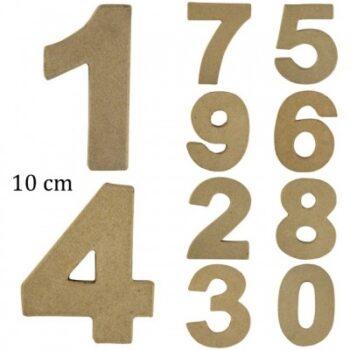 chiffres en papier maché 10 cm-0