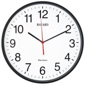 horloge murale noire radio pilotée Bayard-0
