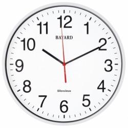 horloge murale blanche radio pilotée Bayard-0