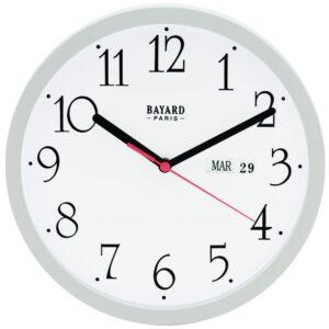 horloge murale avec date blanche-0