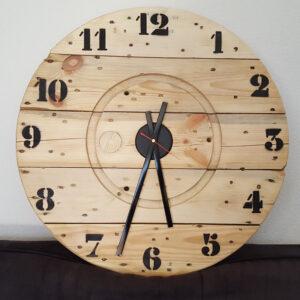 Horloge bois homemade-0
