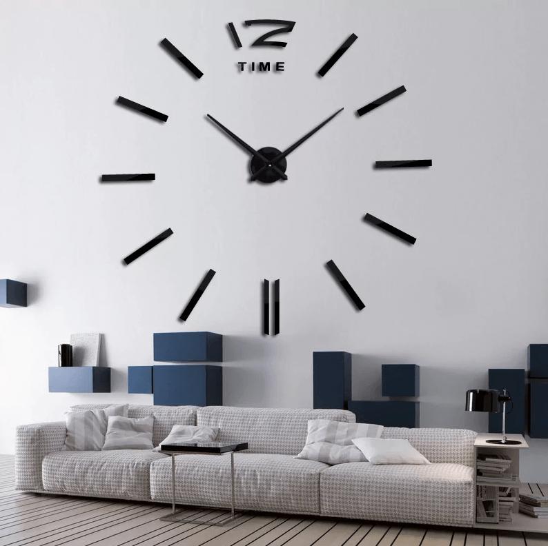 Horloge murale 100 cm avec chiffres autocollants-0
