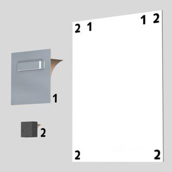 Glue aluminium with forex